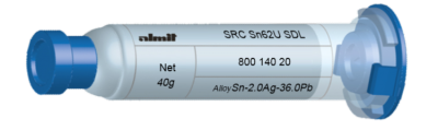 SRC Sn62U SDL  Flux 15%  10cc, 40g, Kartusche/ Syringe