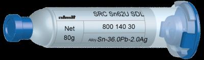 SRC Sn62U SDL  Flux 15%  30cc, 80g, Kartusche/ Syringe
