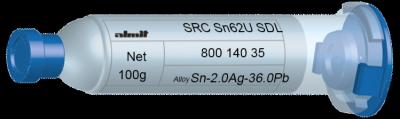 SRC Sn62U SDL  Flux 15%  30cc, 100g, Kartusche/ Syringe