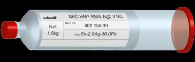 SRC HM1 RMA Ag2 V16L  Flux 9,5%  1,5kg Kartusche/ Cartridge
