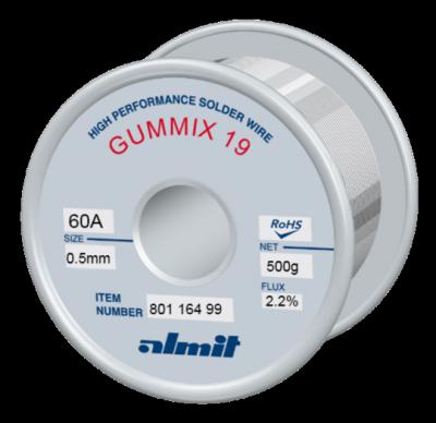 GUMMIX 19 Sn60Pb40 P2  Flux 2,2%  0,5mm  0,5kg Spule/ Reel