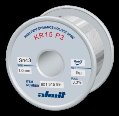 KR15 P3  Flux 3,3%  1,0mm  1,0kg Spule/ Reel