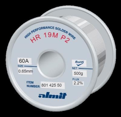 HR 19M P2  Flux 2,2%  0,65mm  0,5kg Spule/ Reel