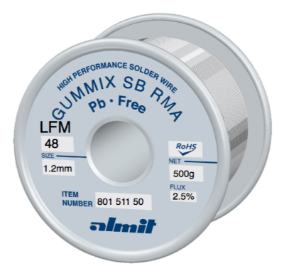 GUMMIX SB RMA LFM-48  Flux 2,5%  1,2mm  0,5kg Spule/ Reel