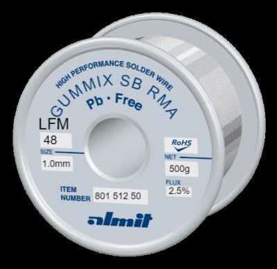 GUMMIX SB RMA LFM-48  Flux 2,5%  1,0mm  0,5kg Spule/ Reel
