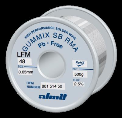 GUMMIX SB RMA LFM-48  Flux 2,5%  0,65mm  0,5kg Spule/ Reel