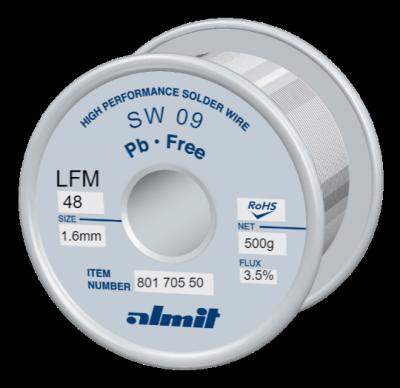 SW 09 LFM 48 Flux 3,5%  1,6mm  0,5kg Spule/ Reel