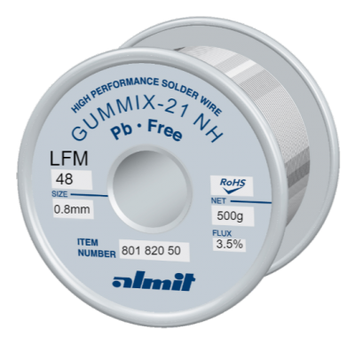 GUMMIX-21 NH LFM-48  Flux 3,5%  0,8mm  0,5kg Spule/ Reel