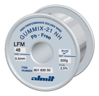 GUMMIX-21 NH LFM-48  Flux 3,5%  0,5mm  0,5kg Spule/ Reel