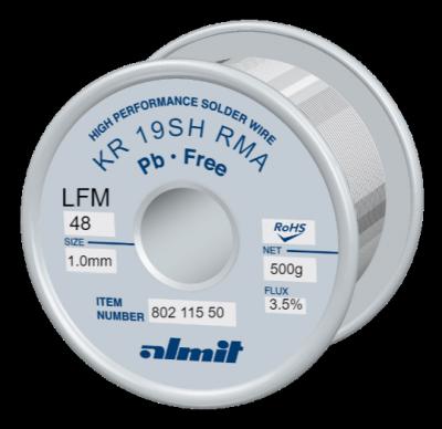 KR 19SH RMA LFM-48 P3  Flux 3,5%  1,0mm  0,5kg Spule/ Reel