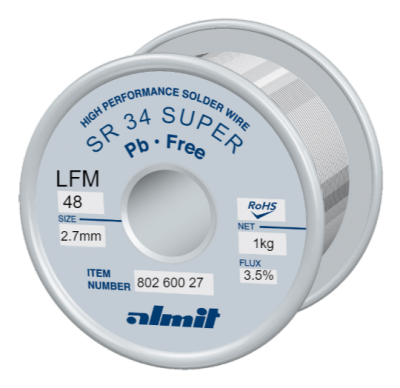 SR 34 SUPER LFM-48 P3  Flux 3,5%  2,7mm  1,0kg Spule/ Reel