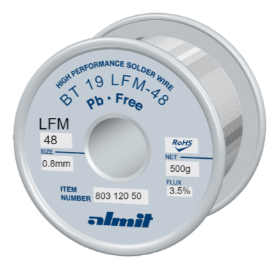 BT 19 LFM-48 3,5%  Flux 3,5%  0.8mm  0,5kg Spule/ Reel