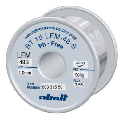 BT 19 LFM-48-S 3,5%  Flux 3,5%  1,0mm  0,5kg Spule/ Reel