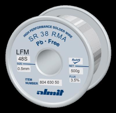 SR 38 RMA LFM-48-S 3,5%  Flux 3,5%  0,5mm  0,5kg Spule/ Reel