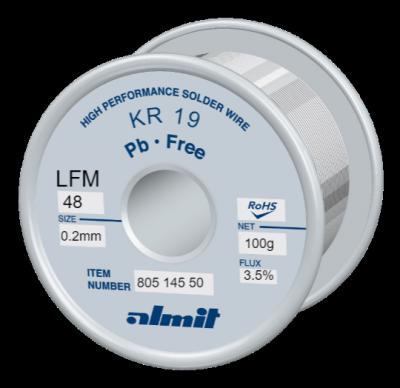 KR 19 LFM-48 P3  Flux 3,5%  0,2mm  0,1kg Spule/ Reel