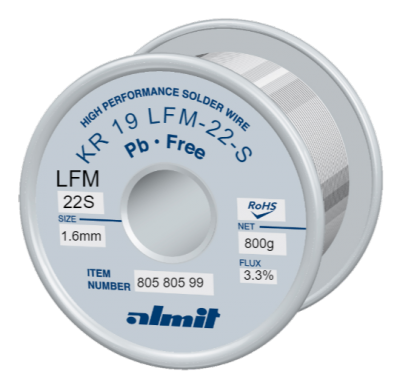 KR 19 LFM-22-S P3  Flux 3,3%  1,6mm  0,8kg Spule/ Reel
