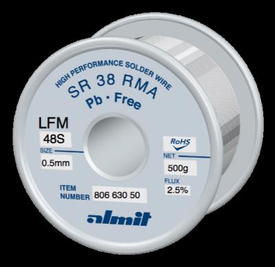 SR 38 RMA LFM-48-S 2,5%  Flux 2,5%  0,5mm  0,5kg Spule/ Reel