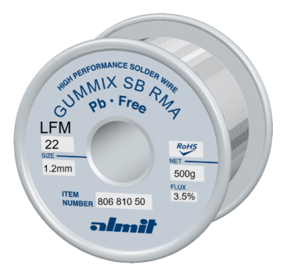 GUMMIX SB RMA LFM-22  Flux 3,5%  1,2mm  0,5Kg Spule/ Reel