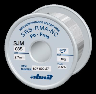 SRS-RMA-NC SJM-03-S 3.5%  2.7mm 1.0kg Spule/ Reel