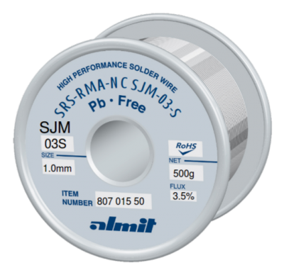 SRS-RMA-NC SJM-03-S 3,5%  1,0mm  0,5kg Spule/ Reel