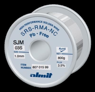 SRS-RMA-NC SJM-03-S 3,5%  1,0mm  0,8kg Spule/ Reel