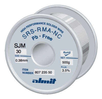 SRS-RMA-NC SJM-30 3,5%  0,38mm  0,5kg Spule/ Reel