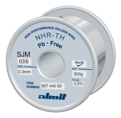 NHR-TH SJM-03-S 3,5%  Flux 3,5%  0,3mm  0,5kg Spule/ Reel
