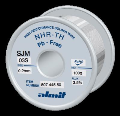NHR-TH SJM-03-S 3,5%  Flux 3,5%  0,2mm  0,1kg Spule/ Reel