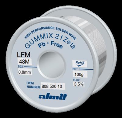 GUMMIX 21Zeta LFM-48-M  Flux 3,5%  0,8mm  0,1kg Spule/ Reel