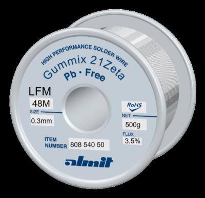 GUMMIX 21Zeta LFM-48-M  Flux 3,5%  0,3mm  0,5kg Spule/ Reel