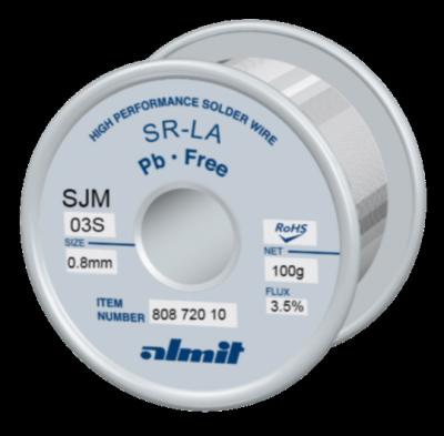 SR-LA SJM-03-S 3,5%  0,8mm  0,1kg Spule/ Reel
