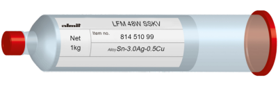 LFM 48W SSKV  Flux 12%  (20-38µ)  1,0kg Kartusche/ Cartridge