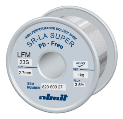 SR-LA SUPER LFM-23-S 3,5% Flux 3,5%  2,7mm 1,0kg Spule/ Reel