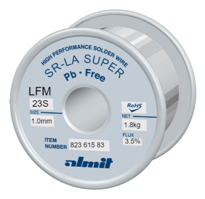 SR-LA SUPER LFM-23-S 3,5% Flux 3,5%  1,0mm 1,8kg Spule/ Reel