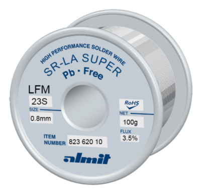 SR-LA SUPER LFM-23-S 3,5% Flux 3,5%  0,8mm 0,1kg Spule/ Reel