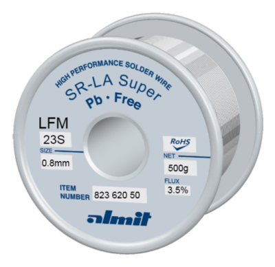 SR-LA SUPER LFM-23-S 3,5% Flux 3,5%  0,8mm 0,5kg Spule/ Reel