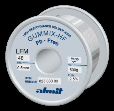 GUMMIX-HF LFM-48  Flux 2,5%  0,5mm  0,5kg Spule/ Reel