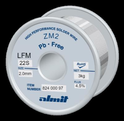 ZM2 LFM-22-S 4,5%  Flux 4,5%  2,0mm  3,0kg Spule/ Reel