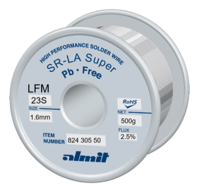 SR-LA SUPER LFM-23-S 2,5% Flux 2,5%  1,6mm 0,5kg Spule/ Reel