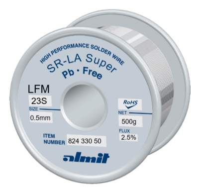 SR-LA SUPER LFM-23-S 2,5% Flux 2,5%  0,5mm 0,5kg Spule/ Reel