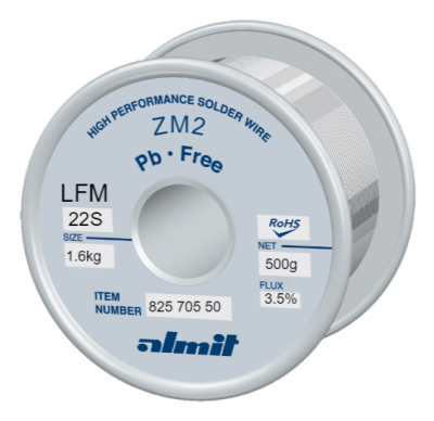 ZM2 LFM-22-S 3,5%  Flux 3,5%  1,6mm  0,5kg Spule/ Reel