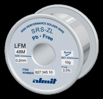 SRS-ZL LFM-48-M 3,5%  Flux 3,5%  0,2mm  10g Spule/ Reel