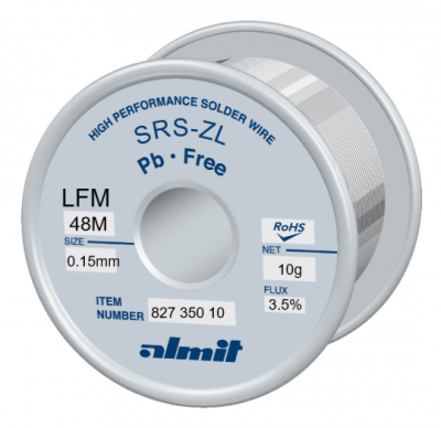 SRS-ZL LFM-48-M 3,5%  Flux 3,5%  0,15mm  10g Spule/ Reel